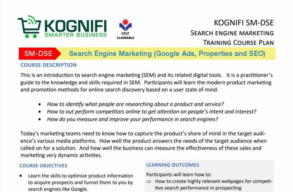 Kognifi SEO Training Course Malaysia