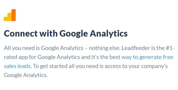 Leadfeeder Requires just Google Analytics