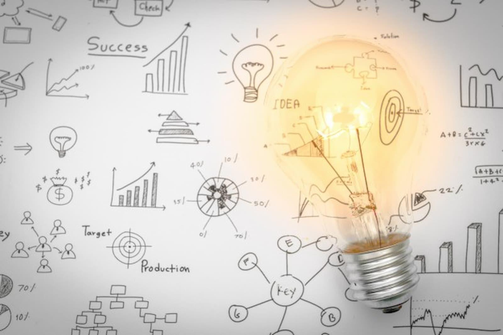 Marketing Strategy Ideas Drawing