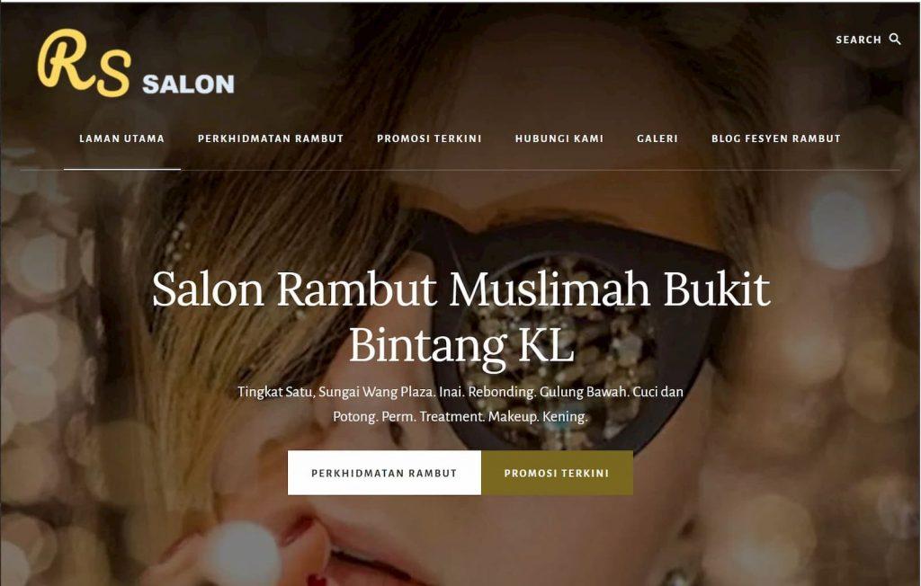 RS Salon Sg Wang KL Wesbite